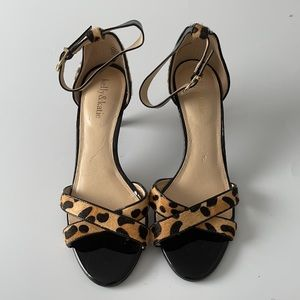 Kelly & Katie Calf Hair Leopard Print Heels